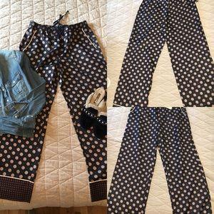 Banana Republic silk drawstring pants